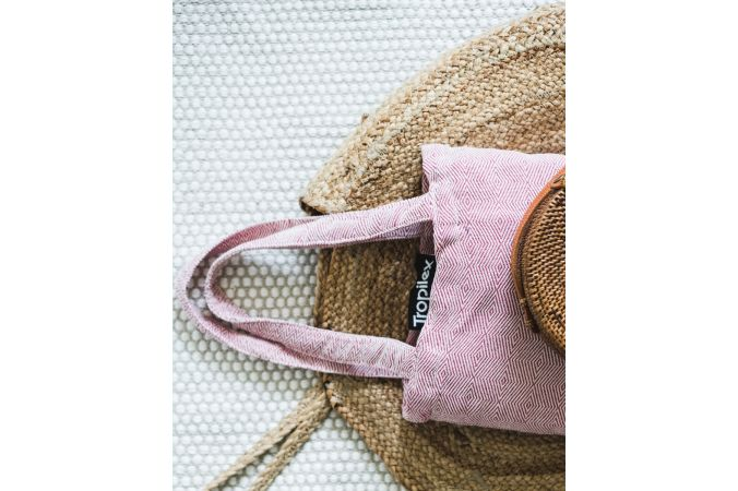 Amaca con supporto singolo 'Wood & Natural' Pink