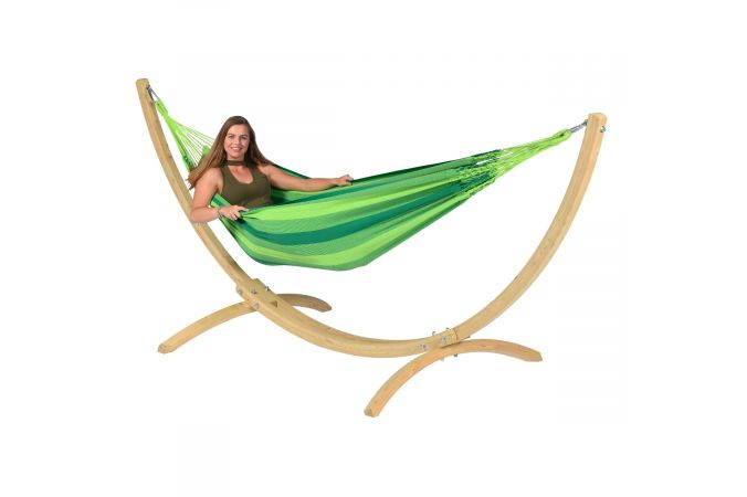 Amaca con supporto singolo 'Wood & Dream' Green