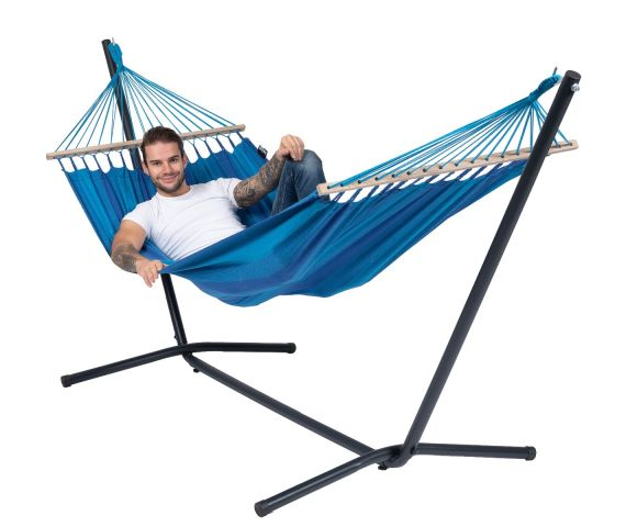 Amaca con supporto singolo 'Easy & Relax' Blue