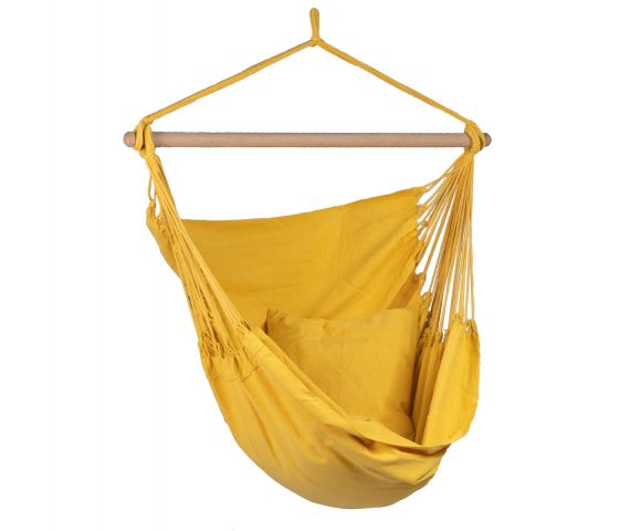 Poltrona sospesa singola 'Organic' Yellow